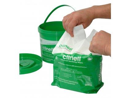 Náhradní náplň dezinfekční ubrousky bezalkoholové Uni-clin Clinell 225ks