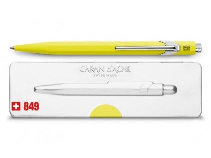 Kuličkové pero Caran d´Ache Popline - neonově žlutá