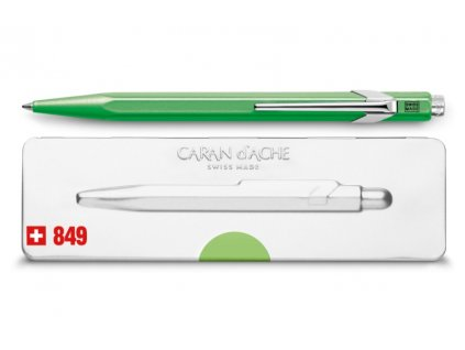 Kuličkové pero Caran d´Ache Popline - neonově zelená
