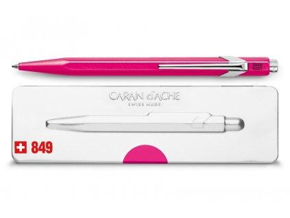 Kuličkové pero Caran d´Ache Popline - neonově růžová