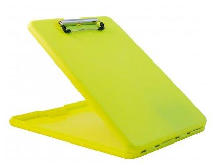 Plastové desky Plastic clipboard SlimMate - neonově žluté