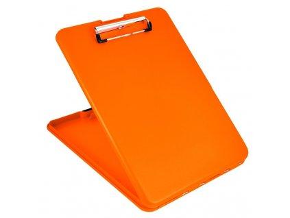 Plastové desky Plastic clipboard SlimMate - neonově oranžové
