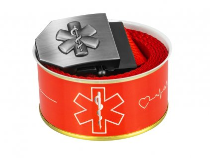 687 textile belt 3D star of life red Buchse 2