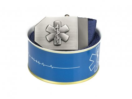689 textile belt 3D star of life blue Buchse