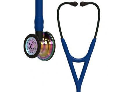 cardiology iv 6242 high polish rainbow finish navy tube black stem and black headset