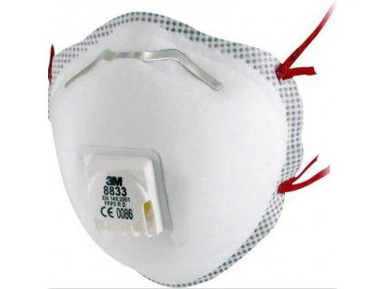Respirátor tvarovaný 3M 8833 - FFP3 výdechový ventilek (1ks)