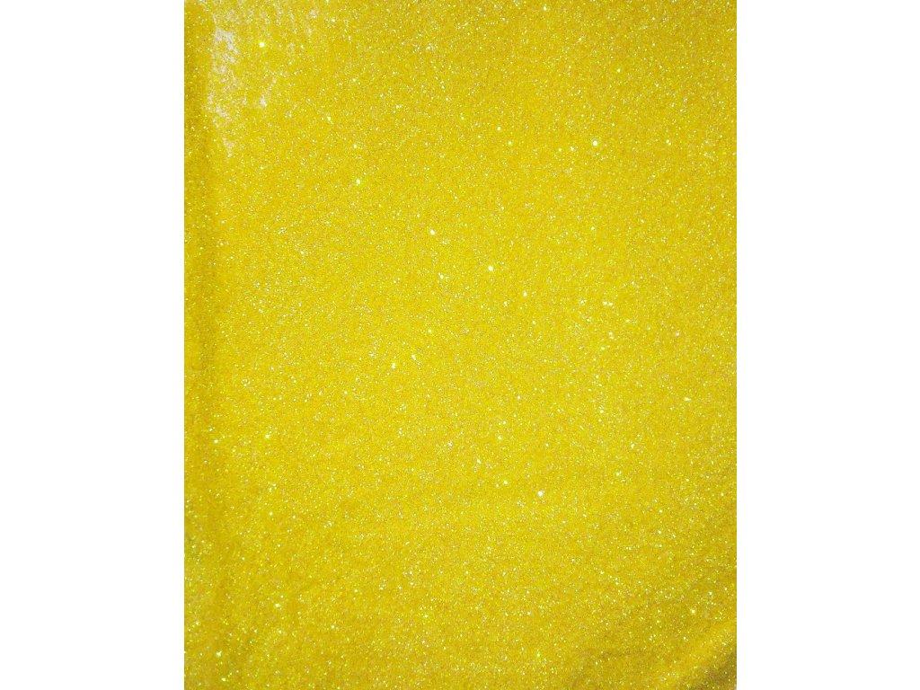 Žluté holografické třpytky glitrové 10g