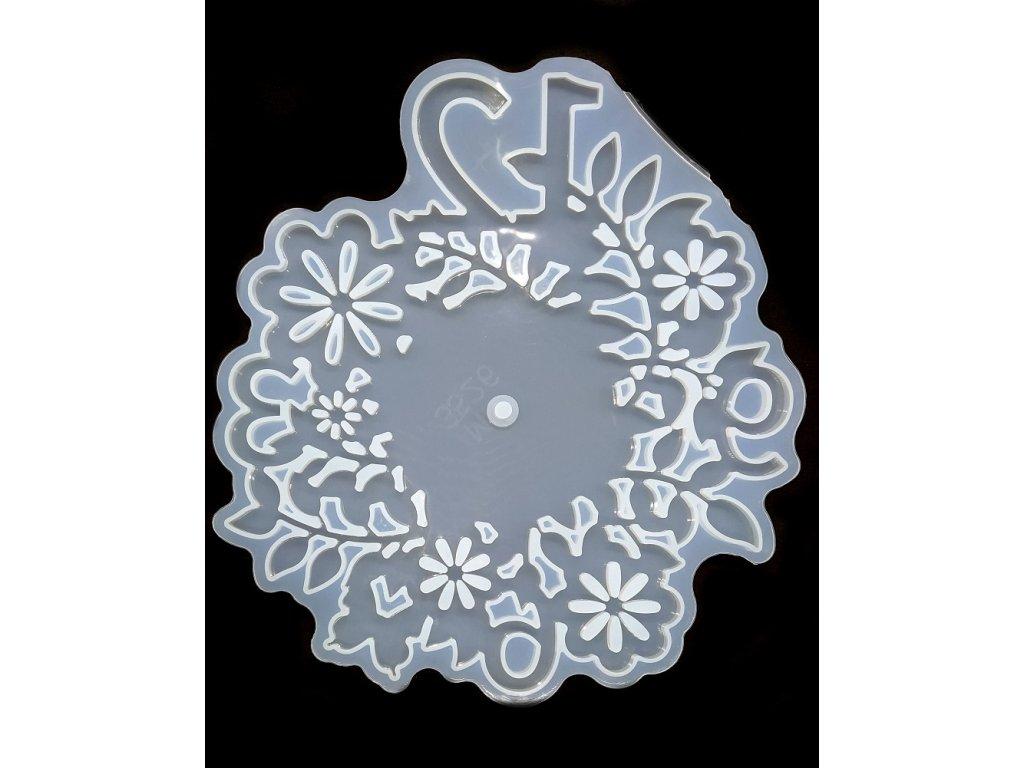 Silikonová forma na epoxidovou pryskyřici - hodiny Ø 15 cm