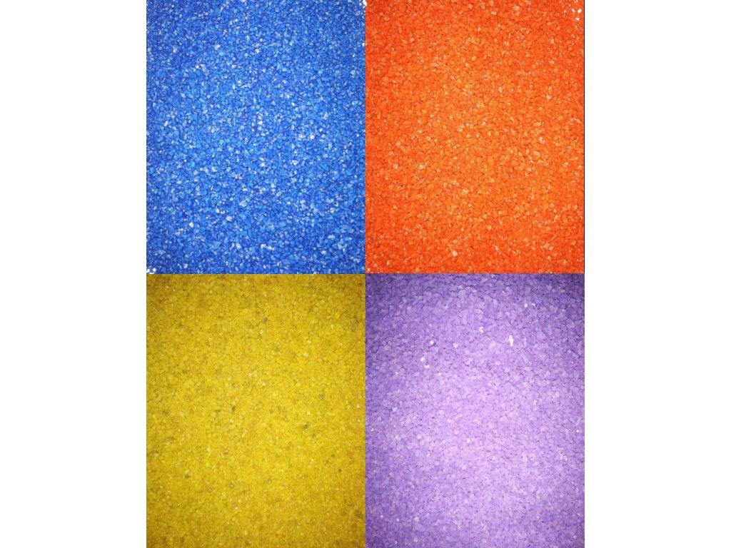 Písek do pryskyřice 1–1,5 mm - více barev