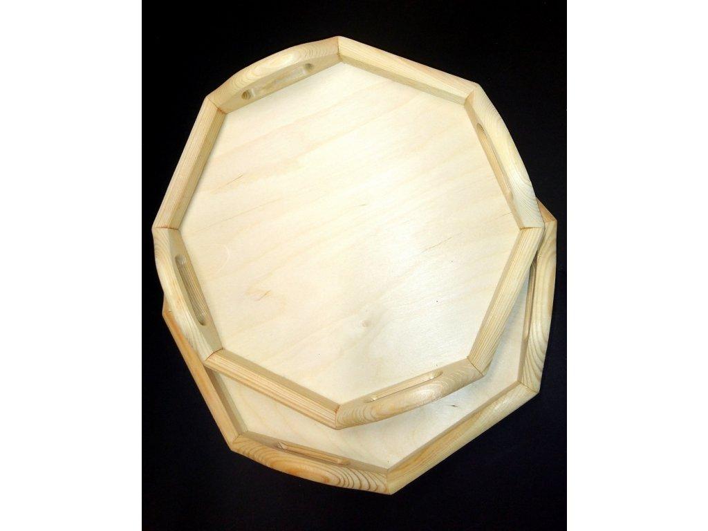 Dřevěný podnos osmiúhelník