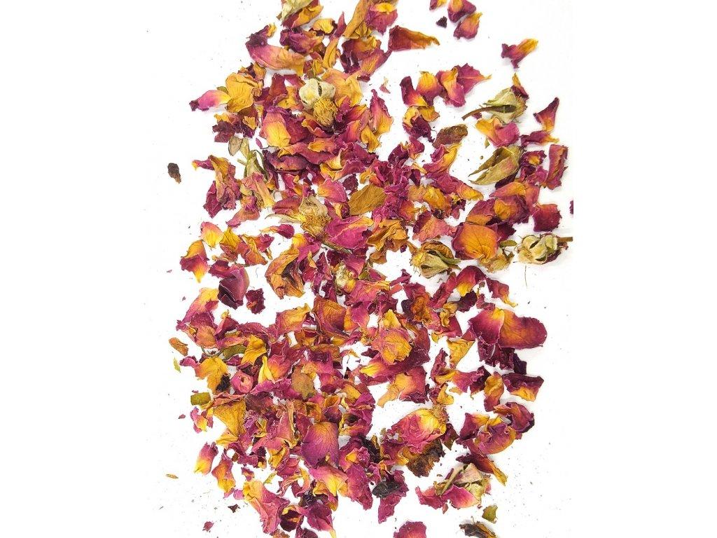 Okvětní plátky růže do pryskyřice