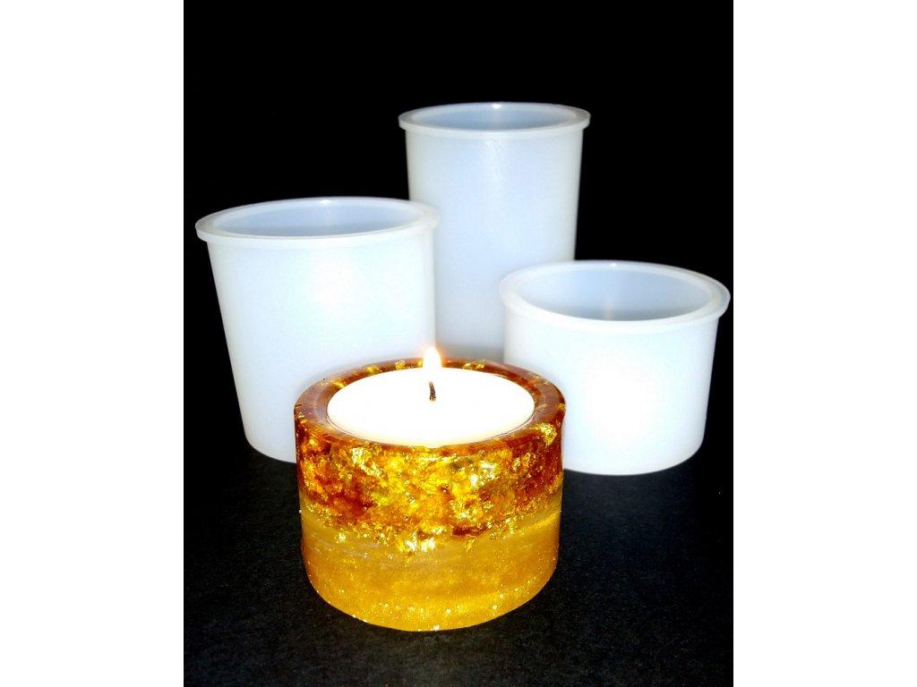 Silikonová forma na epoxidovou pryskyřici - sada svícnu
