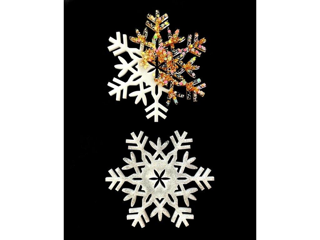 Silikonové formy na epoxidovou pryskyřici - vločky