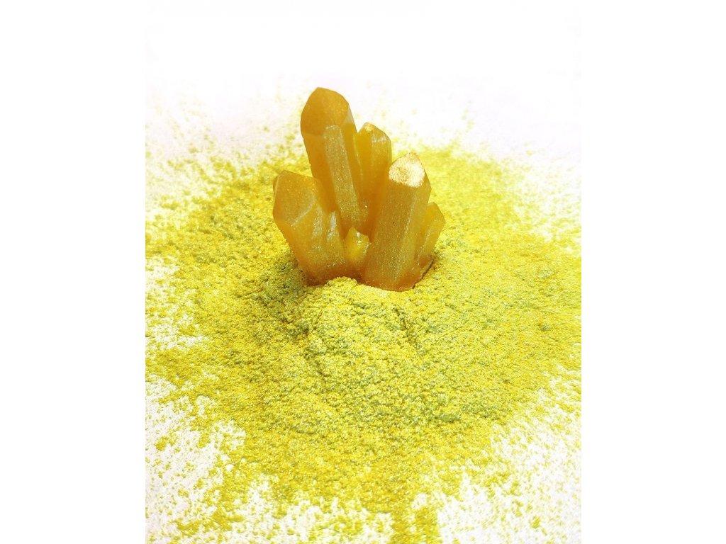 Metalický prášek do pryskyřice - citronově žlutý