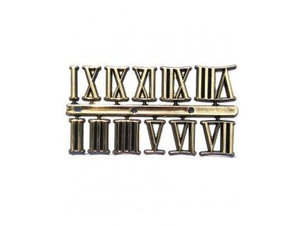 Nalepovací čísla na hodiny z pryskyřice - zlaté