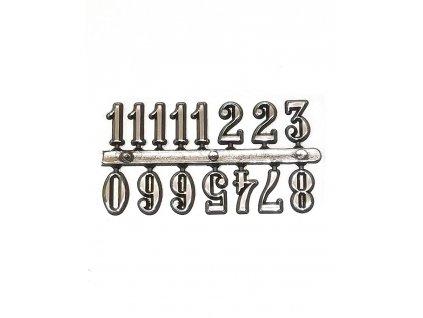 Nalepovací čísla na hodiny z pryskyřice - stříbrné