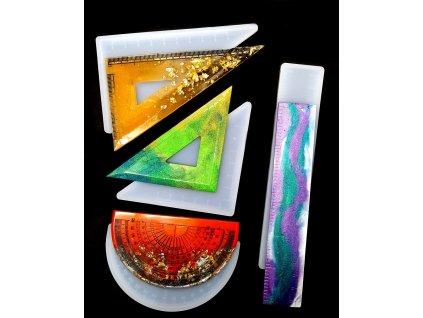 Silikonová forma na epoxidovou pryskyřici - sada pravítek