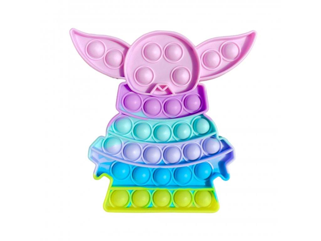 POP IT Antistresová hračka pastelový Star Wars Yoda