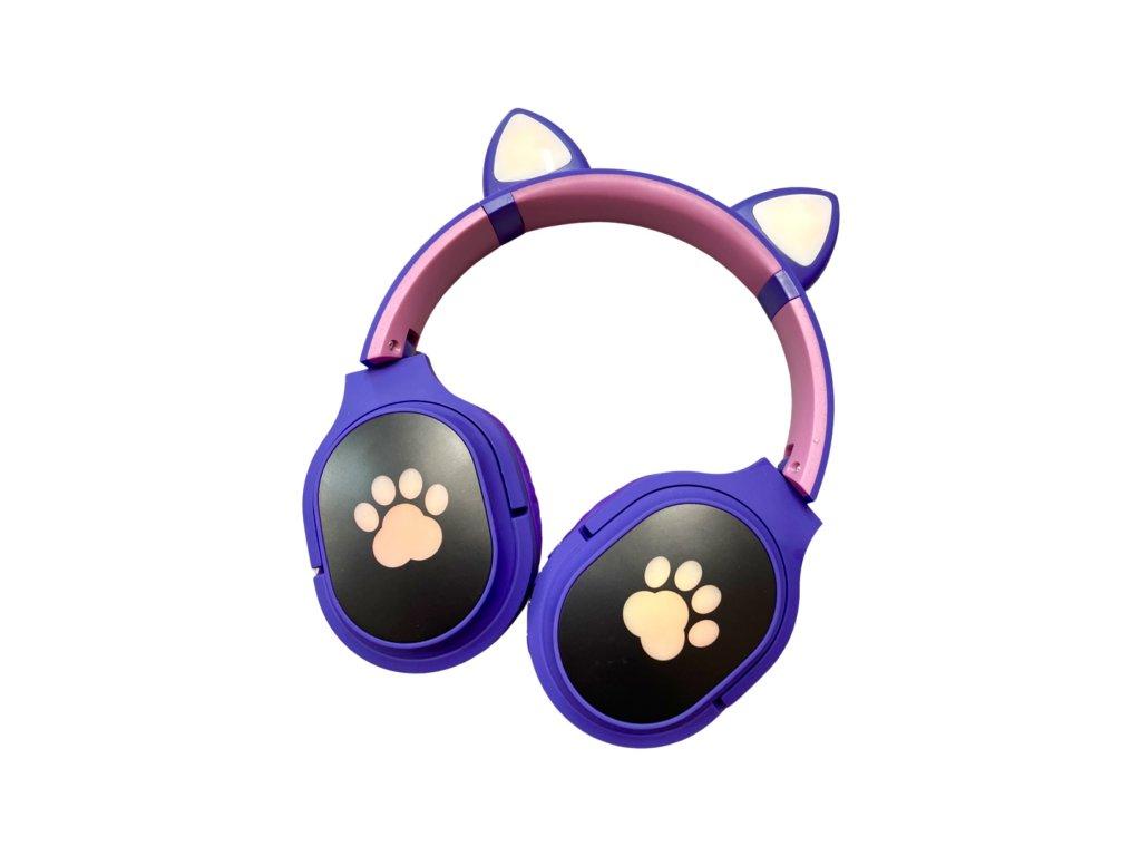 Bezdrátová sluchátka Cat Ear s tlapkou