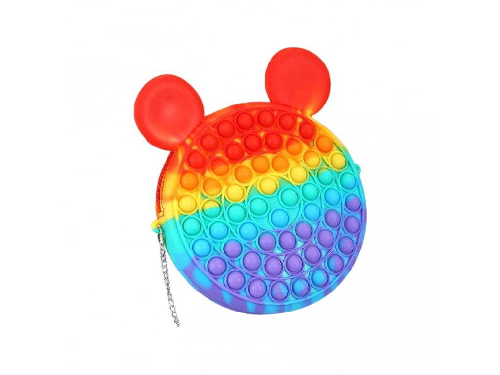 POP IT Antistresová hračka duhová kabelka 18cm