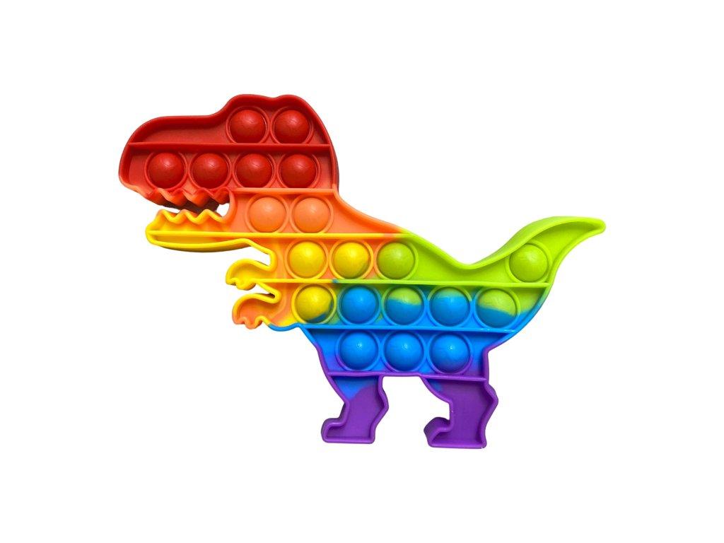 POP IT Antistresová hračka duhový dinosaurus