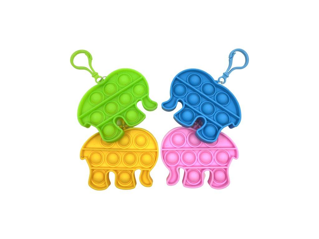 POP IT Antistresová hračka klíčenka slon