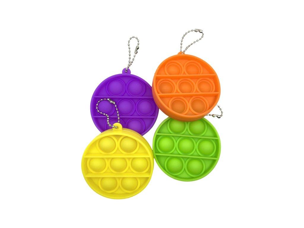 POP IT Antistresová hračka klíčenka kruh
