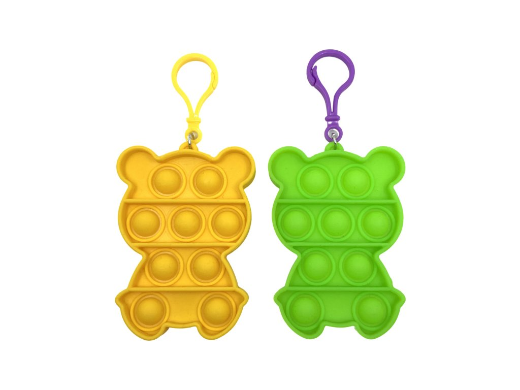 POP IT Antistresová hračka klíčenka medvěd