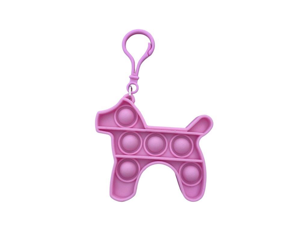 POP IT Antistresová hračka klíčenka pes