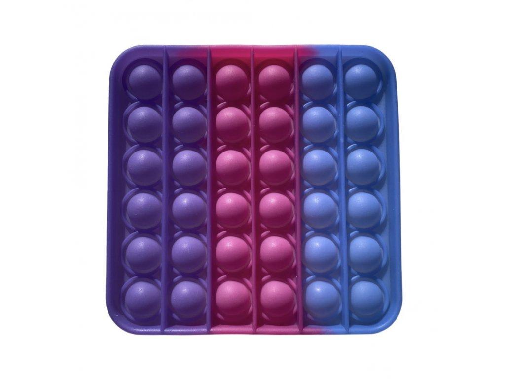 POP IT Antistresová hračka čtverec svítící