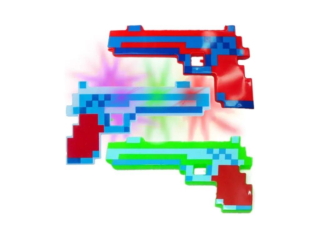 LED svítící pistole
