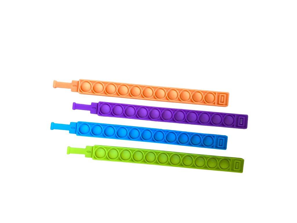 POP IT Antistresový náramek barevný