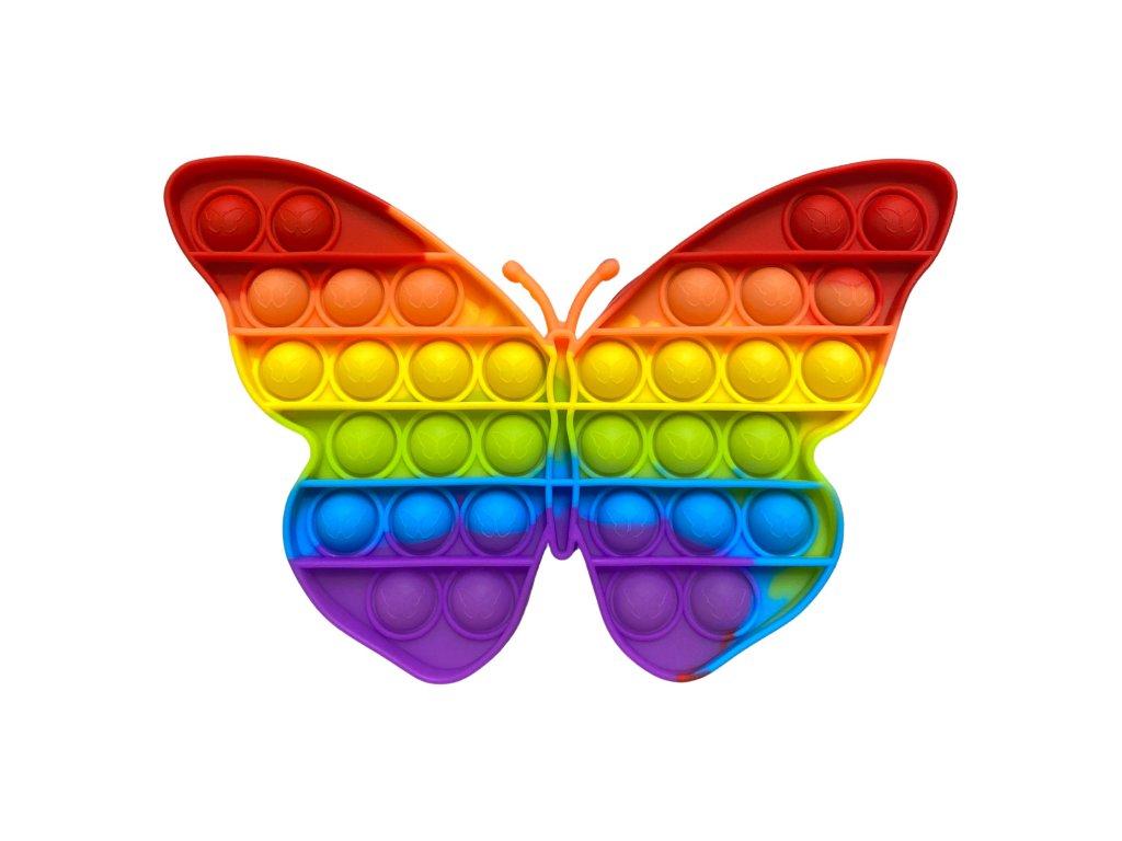POP IT Antistresová hračka duhový motýl