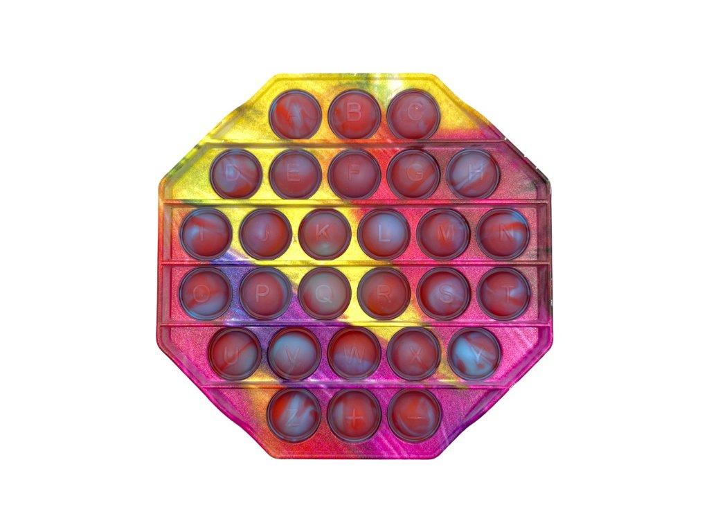 POP IT Antistresová hračka plastový osmihran marble