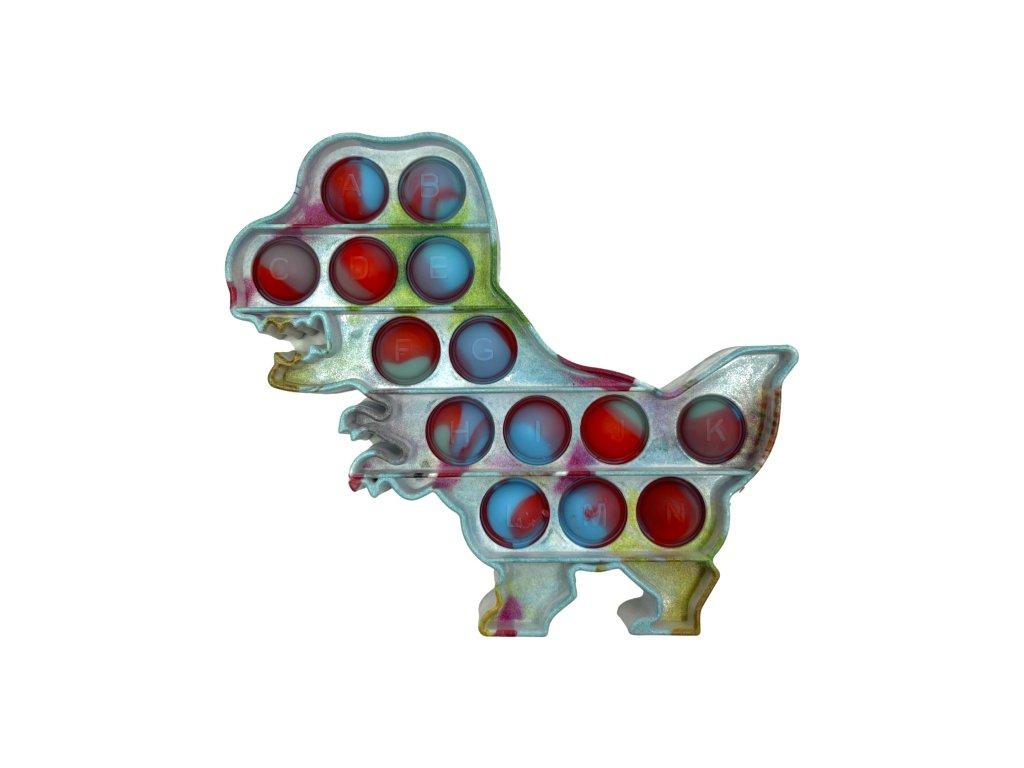 POP IT Antistresová hračka plastový dinosaurus marble