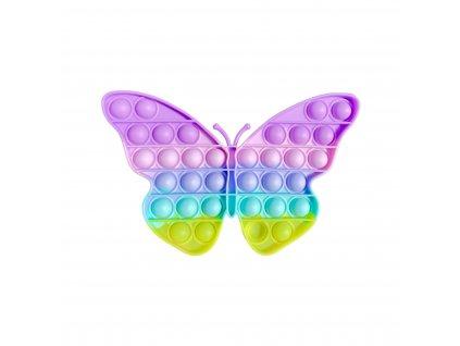 POP IT Antistresová hračka pastelový motýl