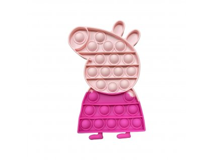 POP IT Antistresová hračka prasátko Peppa růžová