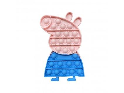 POP IT Antistresová hračka prasátko Peppa modrá