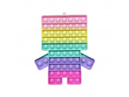 POP IT Antistresová hračka pastelový Minecraft JUMBO 20cm