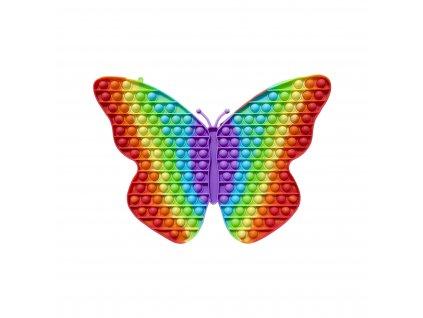 POP IT Antistresová hračka duhový motýl JUMBO XXL 30cm