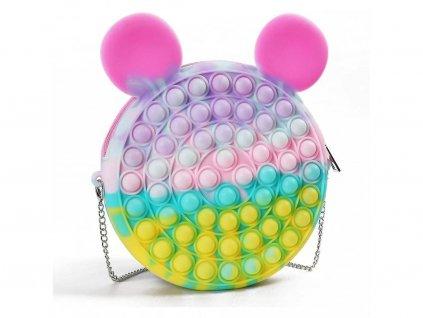 POP IT Antistresová hračka pastelová kabelka 18cm