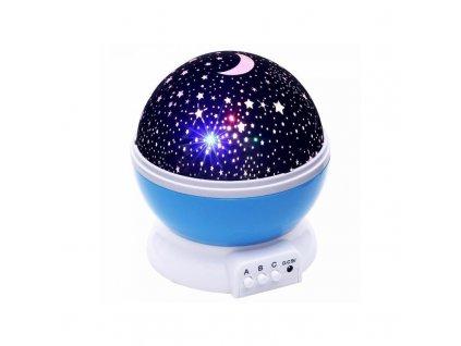projektor nocni oblohy star master modry