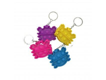 POP IT Antistresová hračka klíčenka krab