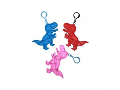 POP IT Antistresová hračka klíčenka dinosaurus