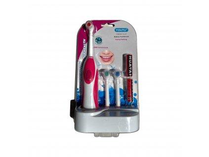 Elektrický zubní kartáček na baterky