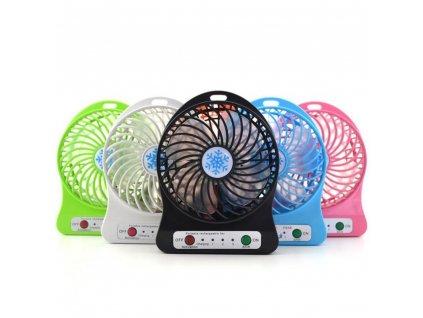 Barevný stolní ventilátor - 3 rychlosti, boční světlo