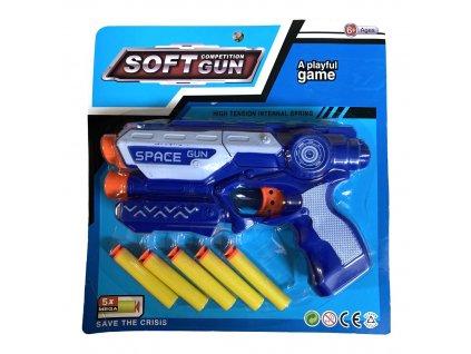 Dětské pistole s pěnovými náboji Soft Gun