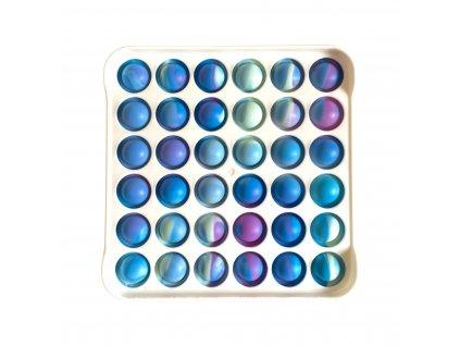 POP IT Antistresová hračka plastový čtverec bílý barevný
