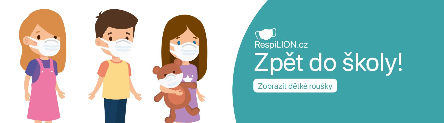 Dětské jednorázové roušky - RespiLion.cz