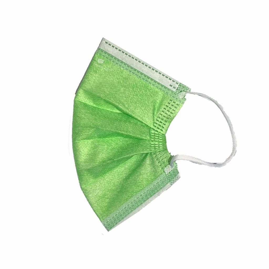 Zelená dětská rouška